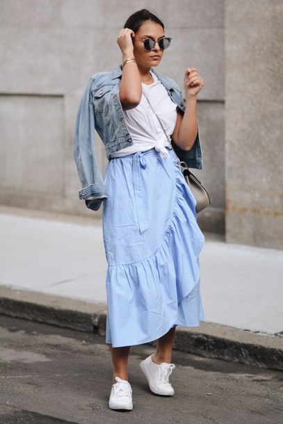 o3jb1x-l-610x610-skirt-tumblr-wrap+ruffle+skirt-ruffle-asymmetrical+skirt-asymmetrical-midi+skirt-blue+skirt-sneakers-white+sneakers-t+shirt-white+t+shirt-jacket-denim+jacket-denim-.jpg